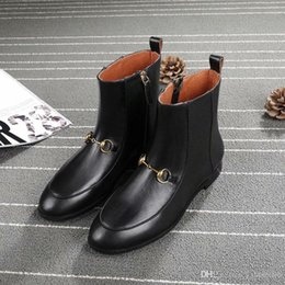 5a19933d5 8 Fotos Botines de plataforma de cuero negro online-Top Luxury Brand Women  Martin Boots Negro cuero