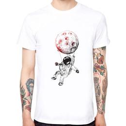 Short Balloon Tops Australia - Fashion hot air balloon design White T-shirts Men's Short Sleeve Casual top Tees Tshirt Hipster Cool O Neck Tops