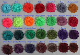 $enCountryForm.capitalKeyWord Australia - Free DHL EMS 150y 2.5 inch chiffon shabby flowers for kids headbands,shabby chiffon flower for baby girls hair accessories,hair clip flowers