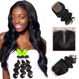 China 8A Body Wave Brazilian Virgin Hair Human Hair 3 Bundles with Top Lace Closure 100% Unprocesssed Hair Extensions Natural Black Sale by Bemiss supplier human hair bundle sales suppliers