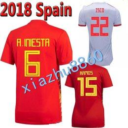 Fußball-Trikots von spanischen Vereinen SPAIN MATCH WORN sweater shirt España player issue Iniesta Asensio Silva Koke