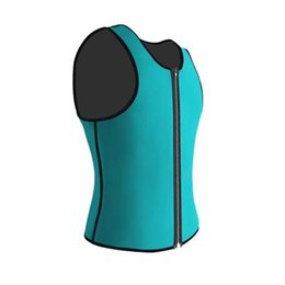 $enCountryForm.capitalKeyWord UK - Palicy Black Blue Green Neoprene Weight Loss Mens Body Shapers Vest Slimming Waist Tops Sweat Shapwear Hot Plus Size S-3XL