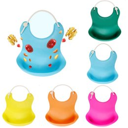 Professional Sale Solid Kids Silicone Bib Adjustable Waterproof Baby Feeding Apron Child Crumb Catcher Baby Feeding Tools Boy Girl Bibs Apron Bibs & Burp Cloths
