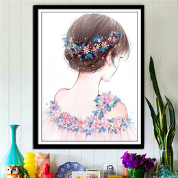 $enCountryForm.capitalKeyWord Australia - 2017 New Pattern Diamonds Cross Embroidered Fairy Maiden A Living Room Bedroom Fully-jewelled Figure Cartoon Slightly Concise Modern
