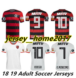 18 19 flamengo jersey 2018 2019 Flemish GUERRERO DIEGO VINICIUS JR Soccer  Jerseys Flamengo home red black sports football kids kit shirt cc93175ff