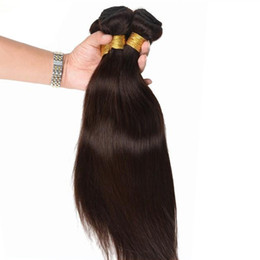Human Weaving Hair Sale Bundles Australia - Hot sales #2 Dark Brown color jet balck Indian human Hair Weave silky straight virgin remy hair bundles 3 Pcs lot free shipping