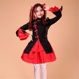 Cosplay Maid Outfits NZ - Shanghai Story Chinese Style Dancer Princess Skirt Lolita Maid Outfit Costume Cosplay