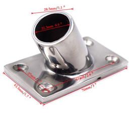 """Trilho de mão de aço inoxidável do barco 4x que cabe 60 ° 7/8 """"base retangular prática em Promoção"""