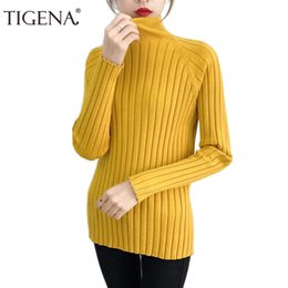 7654587a8d TIGENA New Arrivals Thick Warm Knitted Sweater Female 2018 Winter  Turtleneck Jumper Women Sweaters And Pullovers Pull Femme