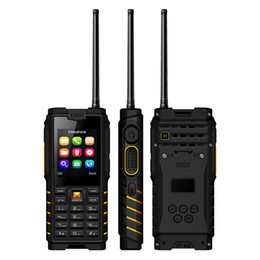 Water Proof Cell Phone Unlocked Canada - Unlocked IP68 Rugged Waterproof UHF Walkie Talkie mobile Cell phone Alps T2 2.4Inch 4500mAh dual sim card quad band GSM
