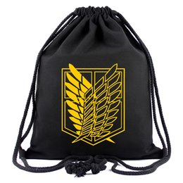 $enCountryForm.capitalKeyWord Canada - Attack On Titan HOT Sale Anime Backpack High Quality Canvas Bag Scout Regiment Scout Legion Gift Bag