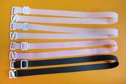 Shoulder Bra Straps NZ - Women's Convertible Bra Silicone Straps 1.5 cm wide Adjustable Elastic Underwear Shoulder Strap Intimates Accessories 60pairs lot