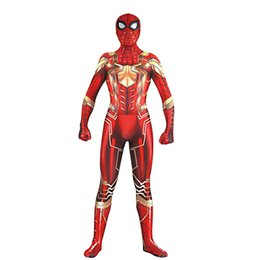 $enCountryForm.capitalKeyWord Australia - 2018 NEW Hot Sale High Quality Mens adult Halloween Spiderman costume Lycra zentai SuperHero Theme Costume cosplay Full Body Suit