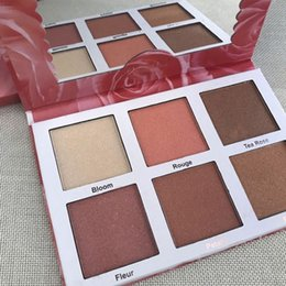 Face Glow Cream Australia - Newest Violet Voss PRO Highlighter Rose Gold Palette Face Bronzers & Highlighters 6 color Glow Free Shipping 3001146