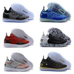 Blue Kd Shoes Australia - KD XI 11 EP Still Black Grey Paranoid Ice Blue Mens Basketball Shoes Kevin Durant 11s Multi-Color Persian Violet Trainers Designer Sneakers