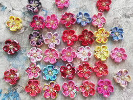 $enCountryForm.capitalKeyWord Australia - 2018 30pcs Pet Dog Clip Handmade Cherry blossoms semi-finished products Pet Hair Bows Dog Hair Accessories Pet Grooming Product