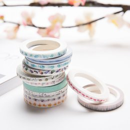 Wholesale Creative Colorful Flower Plants Decorative Adhesive Tape Masking Washi Tape DIY Scrapbooking Sticker Label School Office Supply