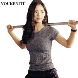white girls yoga pants 2018 - YOUKENITI Brand New Women Short Sleeve Top Quick Dry Shirt Women Sport Clothings Breathable Yoga Shirt Girl Fitness Yoga