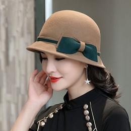 768b2770af89b0 Women Wool Felt Hat Ladies Canada - Beckyruiwu Women Party Banquet Grace  Headwear Lady Winter Pure