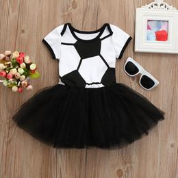cc2a2fffb8e Football dresses online shopping - 2018 Toddler Infant Baby Girl Football  Soccer Print Romper Tulle Tutu