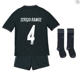 9734cfba5 RONALDO Kids jersey 2018 2019 children Real madrid home soccer Jerseys 18  19 ASENSIO BALE RAMOS ISCO MODRIC football shirt Thailand Quality