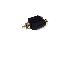 $enCountryForm.capitalKeyWord UK - Converter RCA Male to 2RCA Female AV Audio Y-Splitter Plug Adapter 1 Male to 2 Female Extender Connector