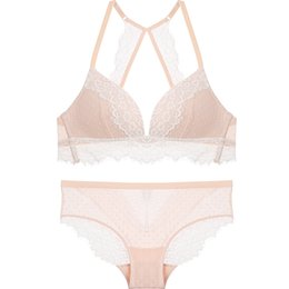 eb3aca5bc39f4 Lace sexy underwear set for women sleep bra set wireless intimates  transparent bra and panty sets thin cup ladies lingerie