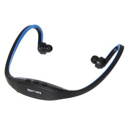 Wireless mp3 headset usb online shopping - Portable Wireless sport mp3 player In Ear Headphone Earphones Headset Handsfree neck MP3 Player Support SD TF Card FM Radio USZ067