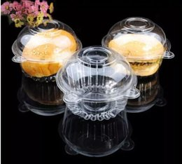 CupCake Cake box Container online shopping - Clear Plastic Muffin Single Cupcake Cake Container Case Boxes Disposable Transparent Clear Food Grade Plastic