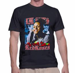 c5083cd28 ROSAS VERMELHAS LIL SKIES RAP T-Shirt Tamanho S-3XL Mangas de Cor Preta de  Algodão Dos Homens do Menino Camiseta top tee Impressão Camisetas