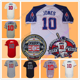 Chipper Jones Jersey With 2018 Hall OF Fame   Retirement Patch Pullover Men  Women Youth 1995 Stitched Red White Cream Dark Blue 80134d07b