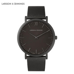 Wholesale Top niche Montre fashion brand larsson jennings watch men mm ladies mm quartz watch leather stainless steel strap sports watch