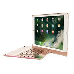 Wholesale 360 Degree Rotating Wireless Bluetooth Keyboard Colors Backlite for ipad air air2 pro9 new ipad new ipad