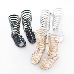 07611c77e8ef6 Vieeoease Girl Shoes Summer Kids Sandals 2018 Korean Fashion Bling Star  Long tube Rome shoes HX-973