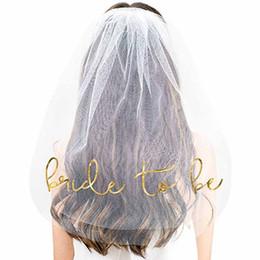 $enCountryForm.capitalKeyWord NZ - Wedding Bridal Shower Decor White short Veil with Comb girls Hen Night Party gold Bride To Be Bachelorette Bridesmaid Photo Prop