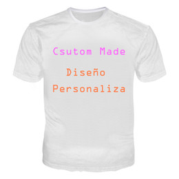 China 3D Customized Tshirt Men Women Customer T Shirts Print On Demand 3D Casual Tees Tops T-Shirt Plus Size 5XL Diseño personalizado supplier customer shirts suppliers