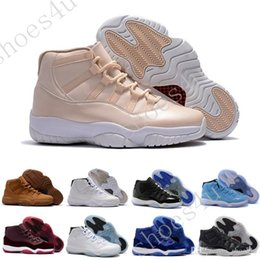 $enCountryForm.capitalKeyWord NZ - New 2017 11 Mens Basketball Shoes Concord Bred Georgetown Space Jam Citrus GS Running Sneakers Women Men High Cut Athletics Boots XI