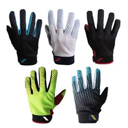Bicycle Road Cycling Gloves Australia - 1Pair Cycling Gloves Men Sports Full Finger Anti Slip Breathable Motorcycle MTB Road Bike Bicycle Winter Gloves C18110801