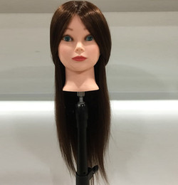 Wig Stands Synthetic Mannequin Head Female Hair Head Doll 22 Inches Mannequin Doll Head Hairdressing Training Heads Styling With Fiber Aesthetic Appearance