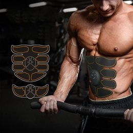 Body Fitness Suit Australia - Multi EMS Abdominal Muscle Trainer Electronic Muscle Stimulator Exerciser Machine Body Slimming Fitness Massager Suit