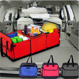 Baskets cars online shopping - Foldable Vehicle Storage Bags Multi Compartment Car Truck Organizer Basket Container With Cooler And Insulation Car Storage Bags GGA861