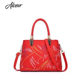 d93e50a47cb6 Beautiful designer Bags online shopping - ALCEVR Beautiful Embroidery  Floral Women Bag PU Leather Female Designer