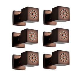 $enCountryForm.capitalKeyWord NZ - Oil Rubbed Bronze Shower Body Jets Rainfall ORB 35mm Massage Spray Jets Spa Bathroom Shower Accessories Brass Rain Showers