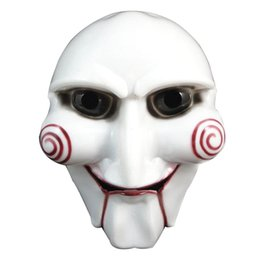 high puppets Australia - 1 pcs High quality White Halloween Party Cosplay Horror Movie Puppet Mask Costume Prop mascara disfraz