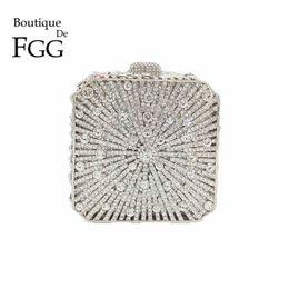 $enCountryForm.capitalKeyWord NZ - Boutique De FGG Dazzling Crystal Women Evening Box Clutch Bag Wedding Bridal Minaudiere Handbags and Purses Ladies Party Clutch Y18103004