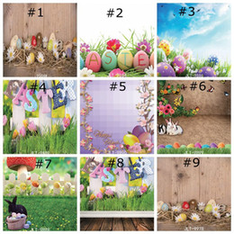 printing background wedding 2019 - Happy Easter Photography Backdrops Natural Grass Green Flowers Photo Studio Background for Children Spring Backdrop Home