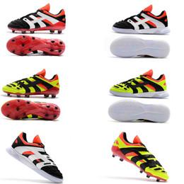 ORIGINAL Predator Accelerator Electricity David Beckham Capsule FG Soccer  Cleats Mens Soccer Shoes Football Boots Top Quality 11db64ca3