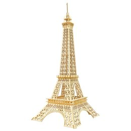 laser cutting kit Australia - Nulong Laser Cutting 3D Wooden Puzzle 3D wood Jigsaw Puzzle Woodcraft Assembly Kit - Eiffel Tower with 94 Parts