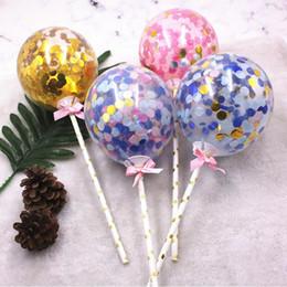 $enCountryForm.capitalKeyWord Australia - 2018 New Love Heart Sequins Balloon Cake Toppers Cupcake Topper Dessert Baking Decor Accessories Birthday Party Decoration