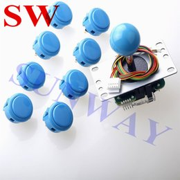 China New Arcade DIY Kit Parts USB Encoder To PC Original Sanwa JLF-TP-8YT Joystick + Sanwa OBSF-30 Buttons For Window PC Games DIY cheap arcade button kits suppliers